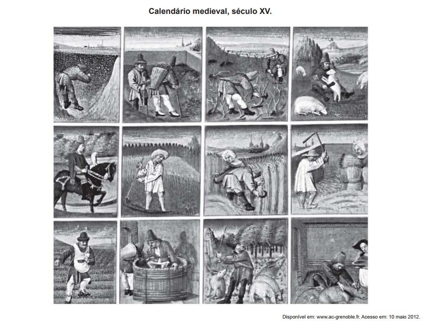 Essas imagens compõem um calendário medieval (1460-1475) e cada uma delas  representa um mês f019815275ee8