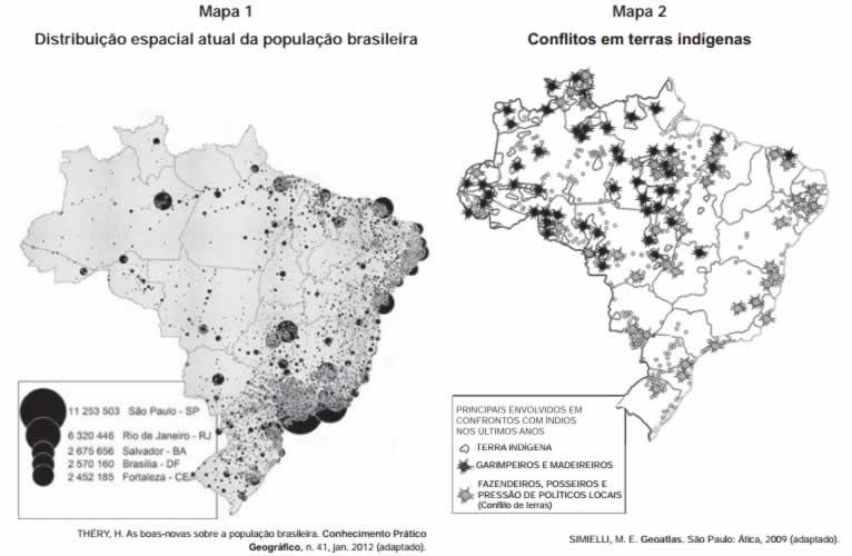 concentração fundiária enem Quest%C3%A3o1.enem2013