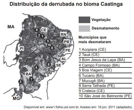 Regional nordeste - problemas ambientais Enem-2012-ppl-questao-37
